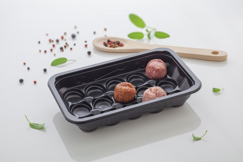 Emballage thermoformé : NEW : STANDARD SEALABLE TRAY FOR MEAT BALLS